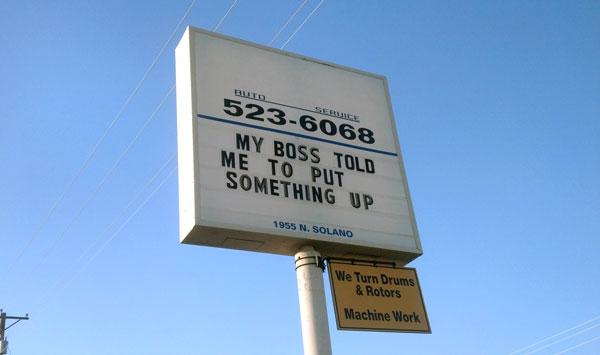 10 Funny Auto Repair Shop Signs Auto Shop Website Design