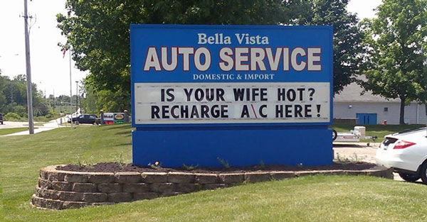 Auto Repair Shop Signs >> 10 Funny Auto Repair Shop Signs Auto Shop Website Design By Sparkplug