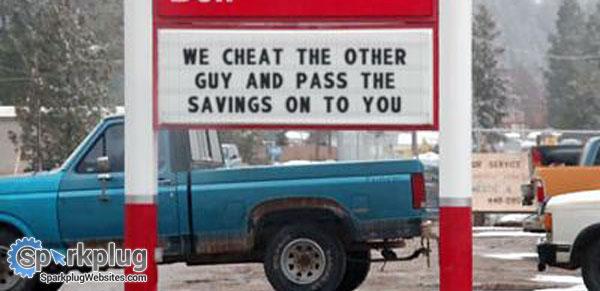 10 Funny Auto Repair Shop Signs Auto Shop Website Design By Sparkplug