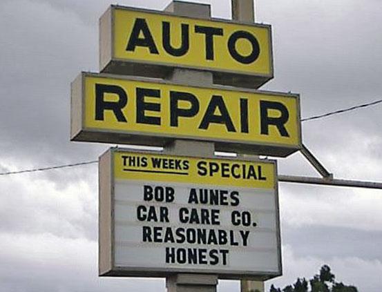 Automotive Repair Signs : Funny auto repair shop signs website design