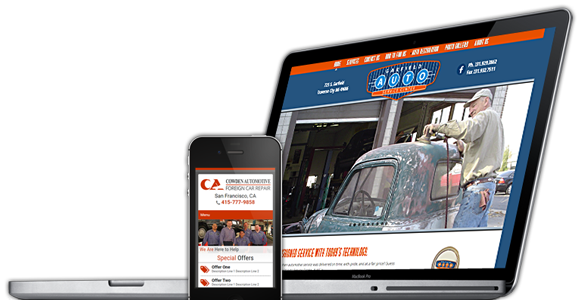 "Website Solutions for <b style=""color: #6dbdf3;"">Auto Shops</b>"